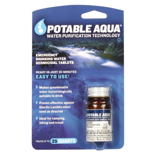 Our #2 Pick is the Potable Aqua Water Purification Tablets
