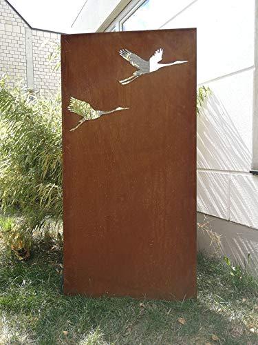 Zen Man Garten Sichtschutz aus Metall Rost Gartenzaun Gartendeko edelrost Sichtschutzwand 150 * 75cm 101551