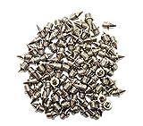 100 x Clavos de acero inoxidable para cross-country, plata, 6 mm