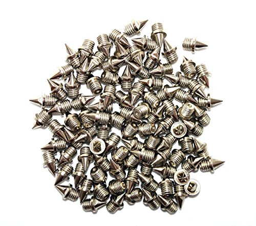 100 x Clavos de acero inoxidable para cross-country, plata, 6 mm