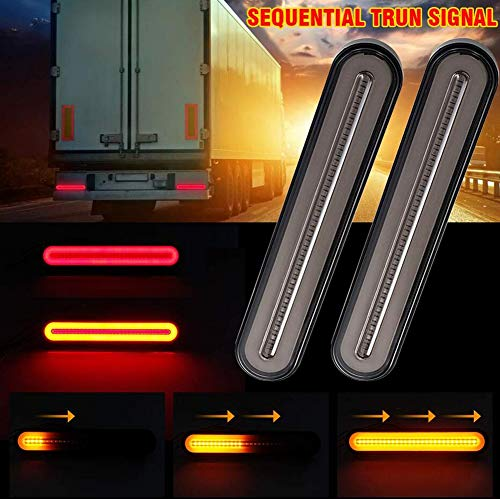 2 stuks auto led-achterlicht knipperlicht knipperlicht achteruitrijlicht voor vrachtwagen aanhanger RV Pick-up SUV RV RV