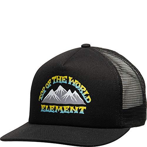 Element - Gorra para Hombre con Visera Plana de Color Negro, Talla única