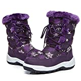 DRKA Boy's and Girl's Toddler Snow Boots with Fur Lined, Waterproof and Non-Slip