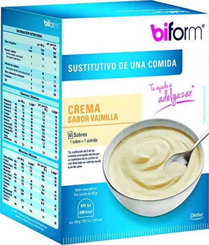 Biform Sustitutivo Crema Vainilla para Adelgazar, Sustituye una Comida. 6 sobres x 50 g