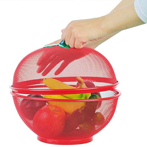 Jiedoasi Apple-Form-Maschen-frische Frucht-Speicher-Abfluss-Korb halten Fliegen-Insekten heraus Speicherkorb-Filter