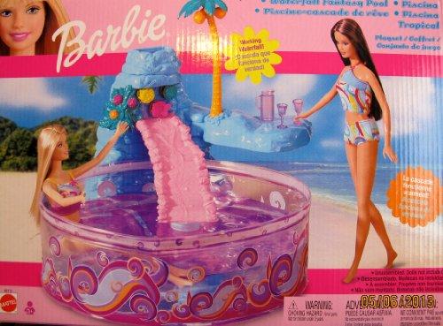 BARBIE WATERFALL FANTASY POOL Playset w Working WATERFALL (2002 Multi-Lingual Box)
