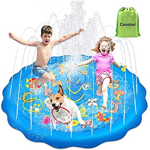 househome - Alfombra de chorro de agua, PVC duradero, alfombra de pulverización de agua y piscina, juguete para jardín al aire libre, Splash, alfombra de despertar, juegos de patuguera hinchable
