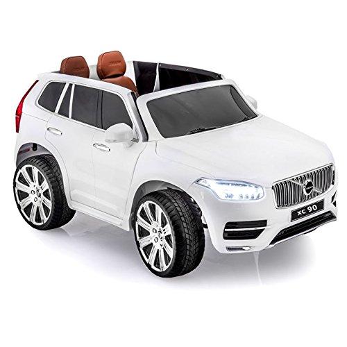 Lean Toys Elektroauto für Kinder Volvo XC90 Weiß Kinderfahrzeug Auto