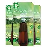 Airwick Air Wick Essential Mist - Recambio para vaporizador (20 ml, aroma de flores de naranja y lima, 3 unidades)