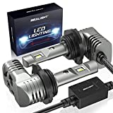 SEALIGHT 9005/HB3 LED Headlight Bulbs 50W 6000lm 1:1 Halogen Size High Beams/Fog Lights 6000K Bright White Lighting Conversion Kit with Fan IP67