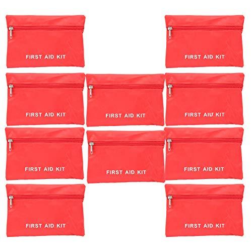 VGEBY Paquete de Emergencia, Caja de Almacenamiento de Supervivencia de Bolsa de Ayuda de Emergencia 10pcs para Acampar de Viaje