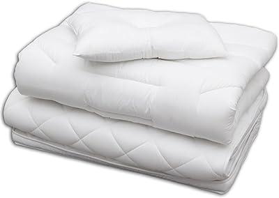 アイリスオーヤマ 布団セット ホワイト 3点 こだわり (3Dフィットキルト掛け布団・ボリュームたっぷり厚み9cm敷布団・立体形状 枕) シングル FK3-S