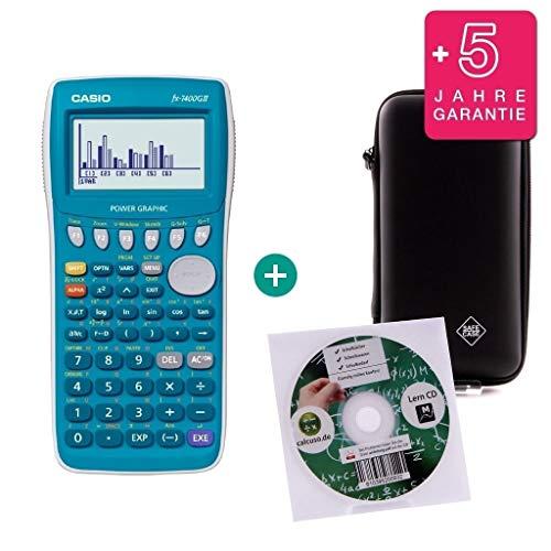 Streberpaket: Casio FX-7400GII + Erweiterte Garantie + Lern-CD (auf Deutsch) + Schutztasche