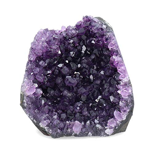 Deep Purple Project 1 Lb Quartz Crystal Cluster Raw Amethyst Stone Plus: Gift WRAP Box Included