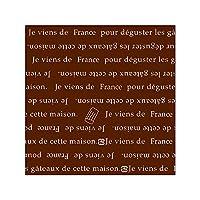 ■株式会社東光 PAOTOKO OPマットフィルム 150角(フランス)BR 500枚 茶 ブラウン ケーキフィルム サイドフィルム ケーキシート シート 敷き紙 包み紙 手作り ケーキ 生菓子 パン 販売 業務用 RC180990
