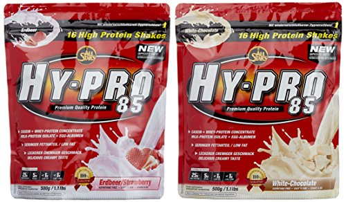 All stars Hy-Pro 85 Beutel 2er Mix Pack (2 x 500 g) Erdbeere/White Chocolate, 1er Pack (1 x 1 kg)