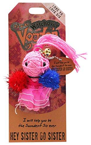 Watchover Voodoo-Puppe / Schlüsselring ~ Hey Schwester Go Schwester