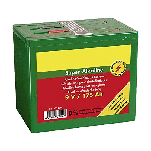 Patura Super-Alkaline Weidezaun-Batterie 9 V / 160 Ah, kleines Gehäuse