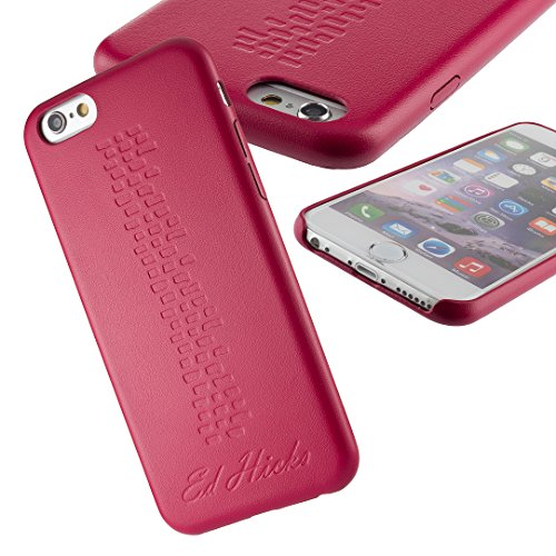 The Revel iPhone 6S Case- Ultra Thin Slim Fit, Premium PU Leather Back Cover Skin Bumper for iPhone 6S & iPhone 6. A Grippy and Protective Hard Shell in Durable & Stylish Pink Champagne