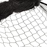 12 * 4M Rete Anti Uccelli Protezione di Giardino Nylon Rete di Protezione Uccelli Recinto in Rete Metallica Recinzione per Animali e Piante Agricoltur 2,5cm Maglia Nero