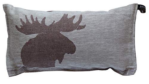 Jokipiin | 1 Saunakissen Minikissen Reisekissen | Design: Kaiku, braun/weiß | Maße: 40 x 22 cm, Leinen/Baumwolle | hergestellt in Finnland