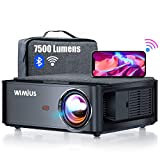 Beamer, WiMiUS 7500 L Full HD 1080P WiFi Bluetooth Beamer Unterstützung 4K Video, LED Heimkino Video Beamer 300 '' Display, kompatibel mit Fire Stick, Laptop, iOS / Android Smartphone, PS5 Projektor