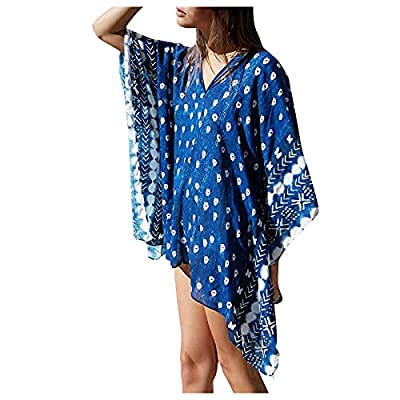 Amazon - Save 80%: Jesaisque Women's Beach Style Pink Print Loose Length Sunscreen Cardig…