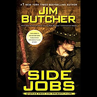 Side Jobs     Stories from the Dresden Files              Auteur(s):                                                                                                                                 Jim Butcher                               Narrateur(s):                                                                                                                                 James Marsters                      Durée: 13 h et 13 min     61 évaluations     Au global 4,9