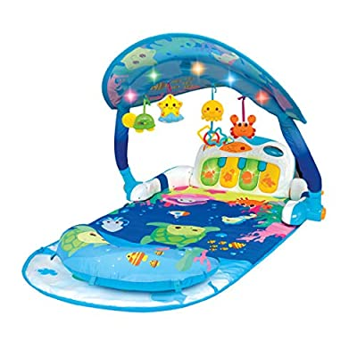 winfun Magic Lights and Musical Play Gym, Blue (0860)