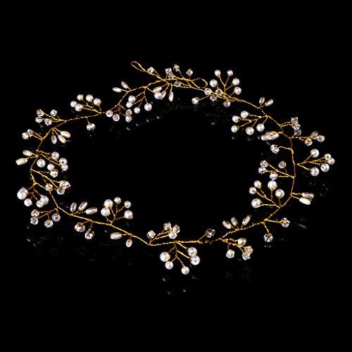 KERDEJAR Diadema de Novia, Diadema de Perlas de imitación de Diamantes de...