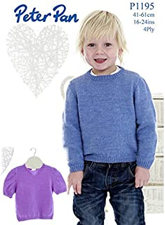 Peter Pan Baby Sweaters Knitting Pattern 1195 4 Ply