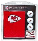 Team Golf NFL Kansas City Chiefs Gift Set Embroidered Golf Towel, 3 Golf Balls, and 14 Golf Tees 2-3/4' Regulation, Tri-Fold Towel 16' x 22' & 100% Cotton