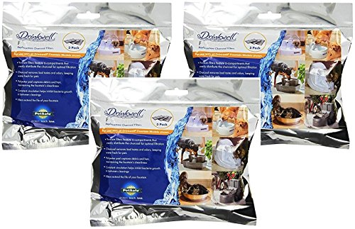 PetSafe Drinkwell Premium Carbon Replacement Filters (3 Packages each Containing 3 Filters Per Pack / 9 Filters Total)