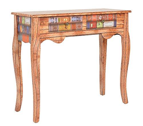 Consola mesa escritorio aparador cómoda diseño de libro aspecto de madera estilo antiguo para el pasillo, sala de estar, oficina