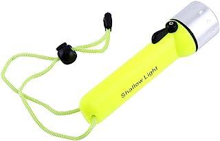 180LM LED防水ダイビング懐中電灯 ライトグリーン 水中トーチ ハンドストラップ付き 目立ち色 水中視認性良好 高輝度LEDライト 優れた光透過性 25m以上照明距離
