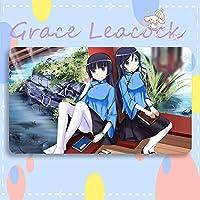 GraceLeacock カードゲームプレイマット 遊戯王 プレイマット 俺の妹がこんなに可愛いわけがない ごこう るり TCG万能 収納ケース付き アニメ 萌え カード枠なし (60cm * 35cm * 0.4cm)