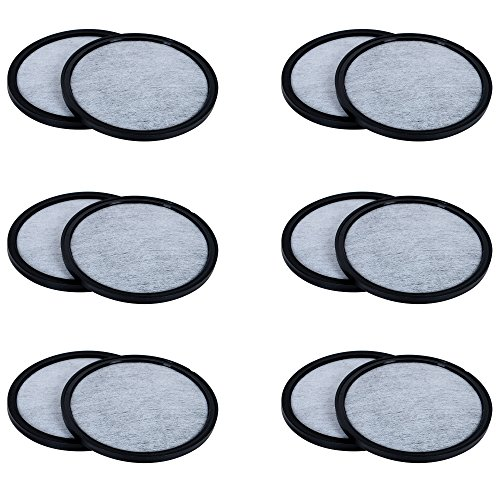 Mr. Coffee Water Filters - Universal Fit Mr Coffee Filters- Replacement Charcoal Water Filter Discs for Mr Coffee Coffee Brewers - Better Than OEM! by K&J Charcoal Filters