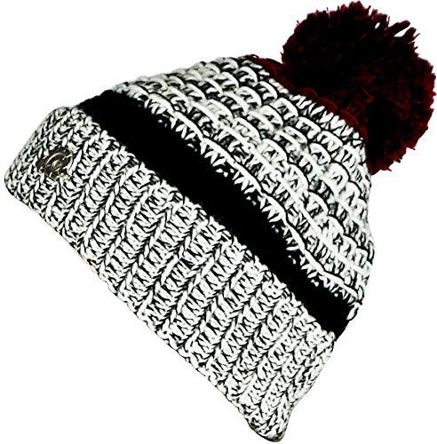 GUGGEN MOUNTAIN Muts voor Dames en Heren met bobbelmuts warme klassieke hoeden Muts met lichte Fleecevoering K109