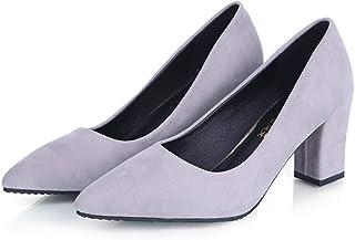 [Topcloud] 女性のエレガントなヌバックシューズ尖ったつま先の靴パンプススリップオンカジュアルシューズ