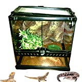 Bearded Dragon Play House 30 Liter Aquarium Habitat Large Reptile Lizard Kit Set Portable Tank Lid & eBook