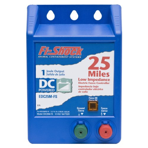 : Fi-Shock EDC25M-FS Battery-Operated Fence Energizer, 25-Mile