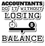 4 All Times Accountants Do It Without Losing Balance Automotive Car Decal Cars, Trucks, Laptops (12.0' W x 11.7' H)