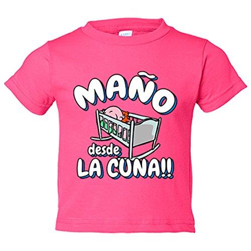 Camiseta niño Maño desde la cuna Zaragoza fútbol - Rosa, 12-18 meses