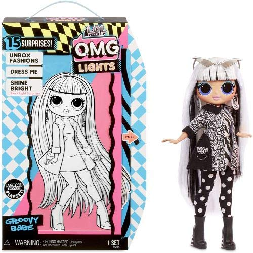 Lol MGA Entertainment Surprise O.M.G. Lights Groovy Babe Fashion Doll with 15 Surprises