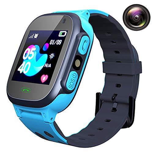 Orologio Intelligente Bambini - AGPS LBS Tracker Smartwatch Bambini, Orologio Intelligente Bambini con Telefono Allarme Camera, Bambini Smart watches Regali per Ragazze Ragazzi Bambini Studente Kids