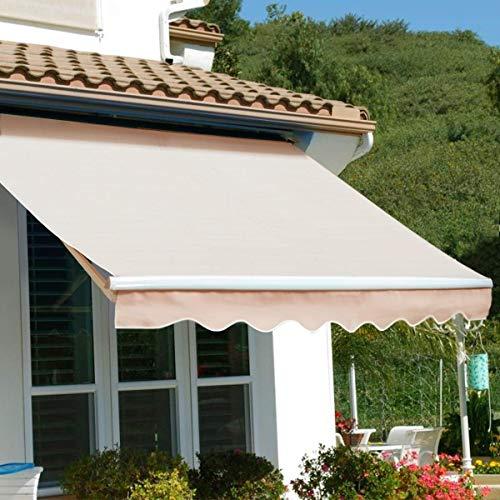 Barton Premium Patio Manual Retractable Sun Shade Awning (12' x 10' ft)...