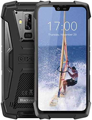 "Blackview BV9700 Pro Moviles Libre Resistentes, 6GB+128GB, 5.84"" FHD, Android 9.0, Teléfonos Impermeable IP68, IP69K, NFC, Calidad del Aire+Monitor de Frecuencia Cardiac"
