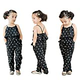 RAYWIND Girls Heart Print Rompers Summer Jumpsuit Clothes 7T
