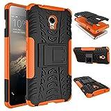 tinyue® Handyhülle für Lenovo Vibe P1 Hülle,Hyun-Muster mit Ständerprotektor PC+TPU Doppelstoßstange Anti-Kratz-Handyhülle Handykasten im Freien, Orange