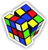 "Rubiks Cube Car Decal Vinyl Magnet - Car, Bumper, Laptop, Macbook, Decor, Vinyl Decal Magnet Magnets Car Refrigerator Metal Sign Magnetic Vinyl 5"""
